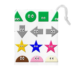 Cute Symbol Drawstring Pouches (extra Large)