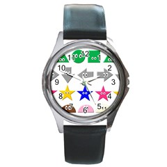 Cute Symbol Round Metal Watch