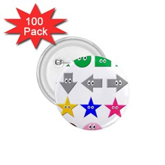 Cute Symbol 1 75  Buttons (100 Pack)