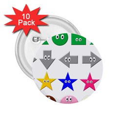 Cute Symbol 2 25  Buttons (10 Pack)