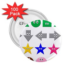 Cute Symbol 2 25  Buttons (100 Pack)