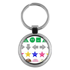 Cute Symbol Key Chains (round)