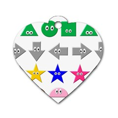 Cute Symbol Dog Tag Heart (Two Sides)