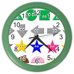 Cute Symbol Color Wall Clocks