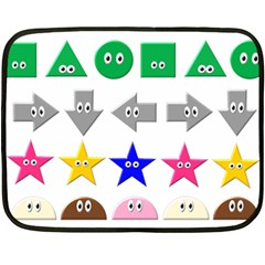 Cute Symbol Double Sided Fleece Blanket (Mini)