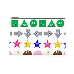 Cute Symbol Cosmetic Bag (large)