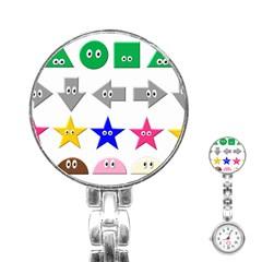 Cute Symbol Stainless Steel Nurses Watch