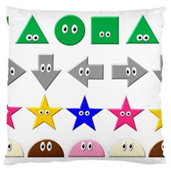 Cute Symbol Large Flano Cushion Case (one Side)