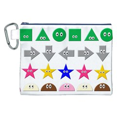 Cute Symbol Canvas Cosmetic Bag (xxl)