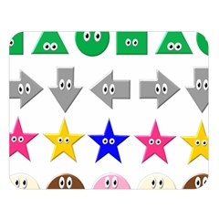 Cute Symbol Double Sided Flano Blanket (Large)