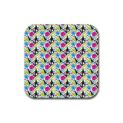 Cool Graffiti Patterns  Rubber Square Coaster (4 pack)