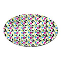 Cool Graffiti Patterns  Oval Magnet
