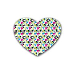 Cool Graffiti Patterns  Rubber Coaster (heart)