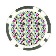 Cool Graffiti Patterns  Poker Chip Card Guard (10 pack)
