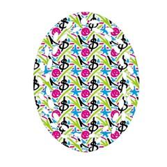Cool Graffiti Patterns  Ornament (oval Filigree)