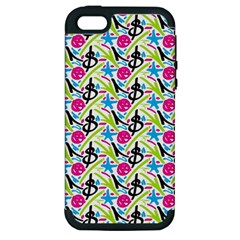 Cool Graffiti Patterns  Apple Iphone 5 Hardshell Case (pc+silicone)