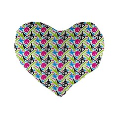 Cool Graffiti Patterns  Standard 16  Premium Heart Shape Cushions
