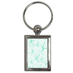 Pattern Floralgreen Key Chains (rectangle)