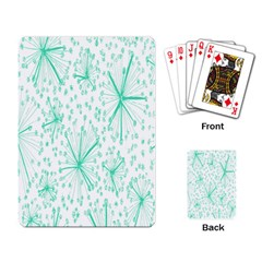 Pattern Floralgreen Playing Card