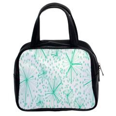 Pattern Floralgreen Classic Handbags (2 Sides)