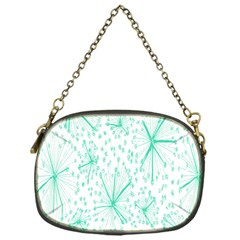 Pattern Floralgreen Chain Purses (one Side)