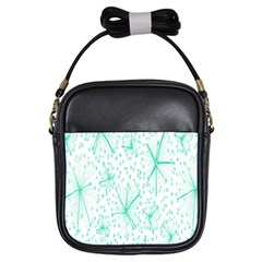 Pattern Floralgreen Girls Sling Bags