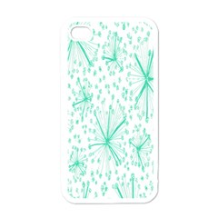 Pattern Floralgreen Apple Iphone 4 Case (white)