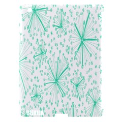 Pattern Floralgreen Apple Ipad 3/4 Hardshell Case (compatible With Smart Cover)