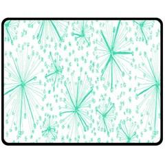 Pattern Floralgreen Double Sided Fleece Blanket (medium)