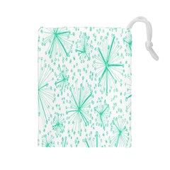 Pattern Floralgreen Drawstring Pouches (large)