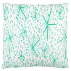 Pattern Floralgreen Large Flano Cushion Case (one Side)