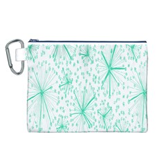 Pattern Floralgreen Canvas Cosmetic Bag (l)