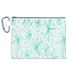 Pattern Floralgreen Canvas Cosmetic Bag (XL)