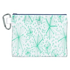 Pattern Floralgreen Canvas Cosmetic Bag (xxl)