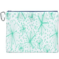 Pattern Floralgreen Canvas Cosmetic Bag (xxxl)
