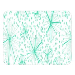 Pattern Floralgreen Double Sided Flano Blanket (large)