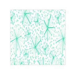 Pattern Floralgreen Small Satin Scarf (square)