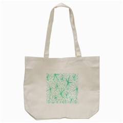 Pattern Floralgreen Tote Bag (Cream)