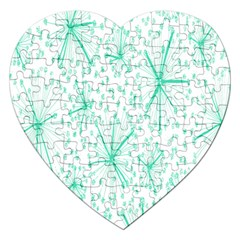 Pattern Floralgreen Jigsaw Puzzle (heart)