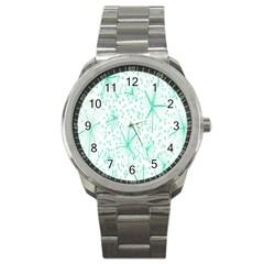Pattern Floralgreen Sport Metal Watch