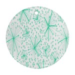 Pattern Floralgreen Round Ornament (Two Sides) Front