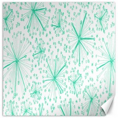 Pattern Floralgreen Canvas 20  X 20