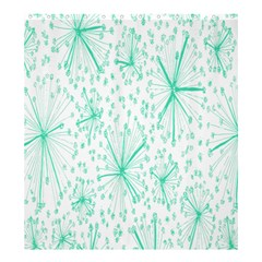 Pattern Floralgreen Shower Curtain 66  X 72  (large)
