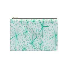 Pattern Floralgreen Cosmetic Bag (medium)