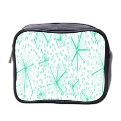 Pattern Floralgreen Mini Toiletries Bag 2-Side