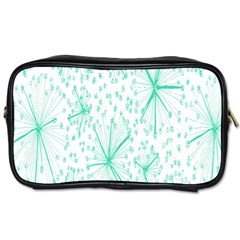 Pattern Floralgreen Toiletries Bags 2 Side