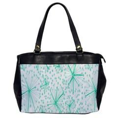 Pattern Floralgreen Office Handbags