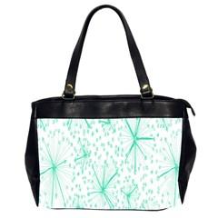 Pattern Floralgreen Office Handbags (2 Sides)