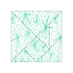 Pattern Floralgreen Acrylic Tangram Puzzle (4  X 4 )