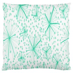 Pattern Floralgreen Large Cushion Case (two Sides)